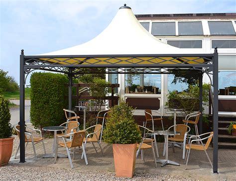 pavillon stabil wetterfest pavillon wetterfest auf einer terrasse