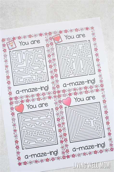 printable valentine s maze free printable quot you re a maze ing quot valentines