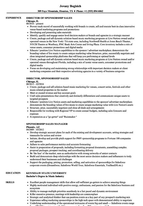 sponsorship resume template sponsorship resume resume ideas