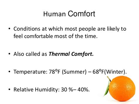 most comfortable indoor temperature hvac cooling load calculation