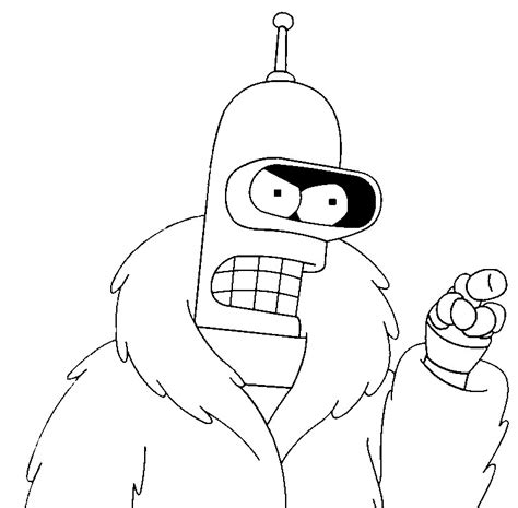 futurama bender coloring pages