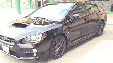 subaru wrx all black 2017 2017 subaru wrx sti sport in black personal owner