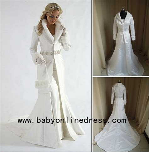 wholesale 2015 wedding dresses ivory fur coat