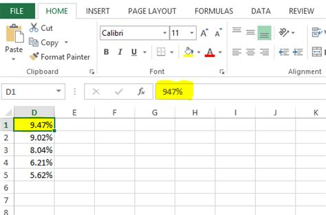 format excel percentage c how to format decimal numbers as percentage in excel