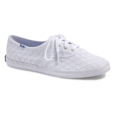 white eyelet sneakers sneakers keds wf54546 chion eyelet white escapeshoes