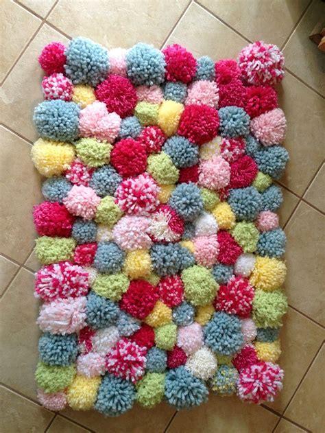 diy pom pom rug diy pom pom rug so easy even my husband helped crafts