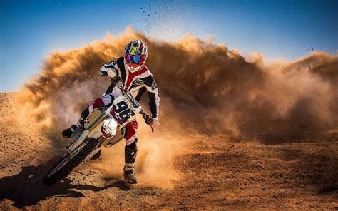 race motocross motorcycle motocross racing sand hd wallpaper