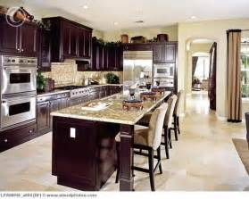 Dark Wood Cabinets In Kitchen by Contemporary Kitchen With Dark Wood Cabinets Lpa00045