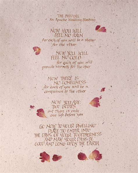 Apache Wedding Blessing Version by Items Similar To Apache Blessing Print 8x10 Calligraphy
