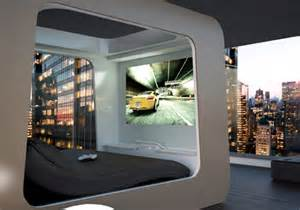 The Bedroom Game Futuristic Bed With Built In Tv Movie Screen Video