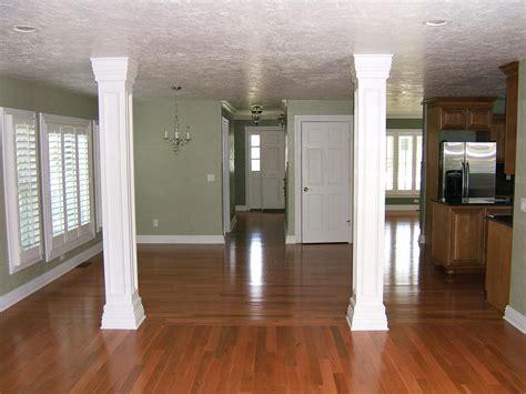 columns in houses interior media room columns interior decorating