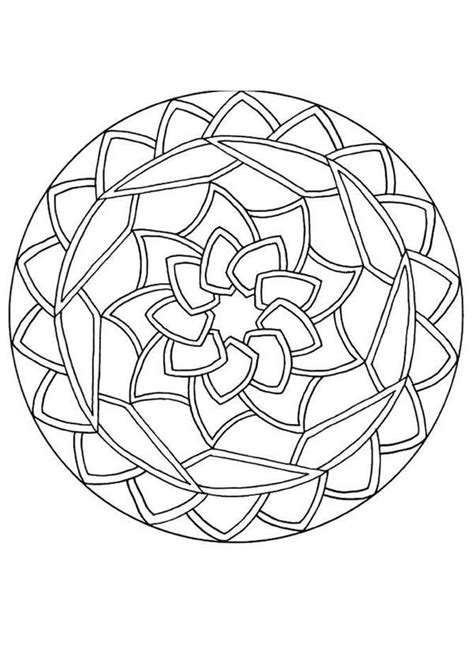 Round Mandala Coloring Pages | mandalas for beginners round mandala