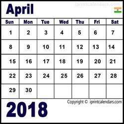 Calendar 2018 April India April 2018 Calendar India Templates Tools
