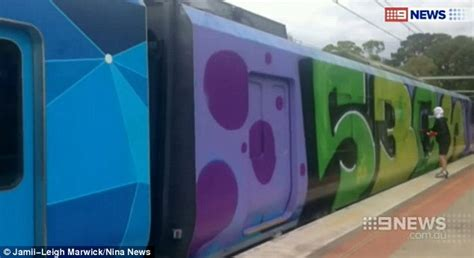 spray painter course melbourne masked lock passengers inside a melbourne and
