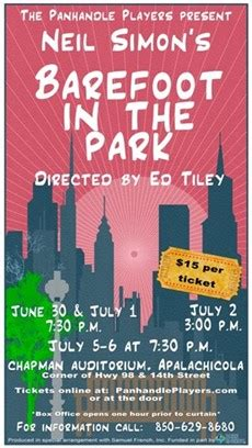Pdf Barefoot Midnight Bay Timeless by Panhandle Players Present Barefoot In The Park
