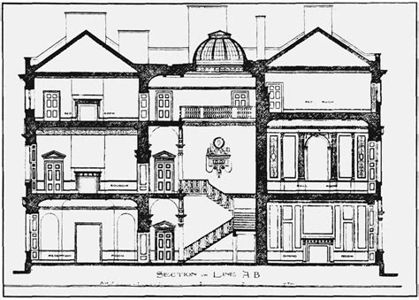 section of a house plan plate 95 carrington house section and ground plan british history online