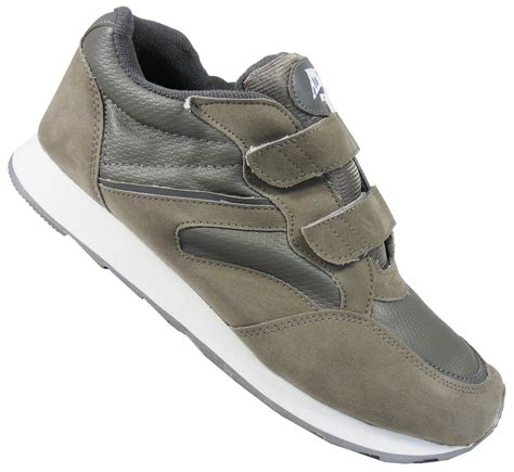 athletic works shoes new mens grey athletic works velcro sport trainers