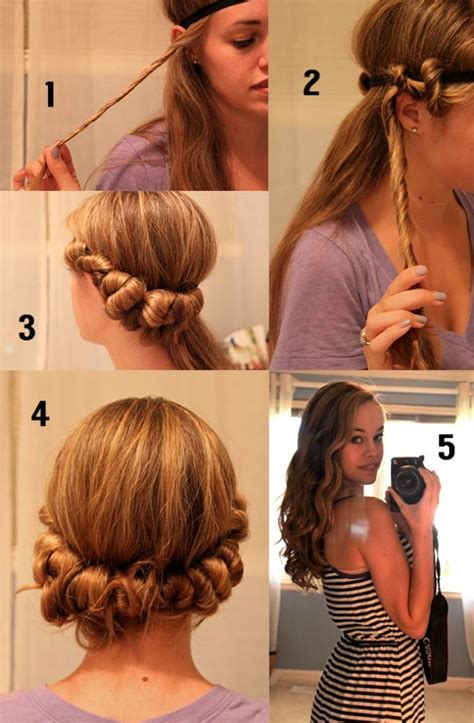 easy hairstyles curling iron 25 best heatless curls overnight ideas on pinterest