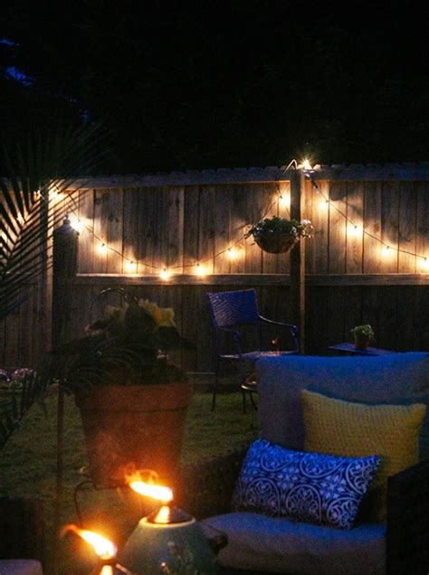 amazing string lights for chic garden decorating ideas
