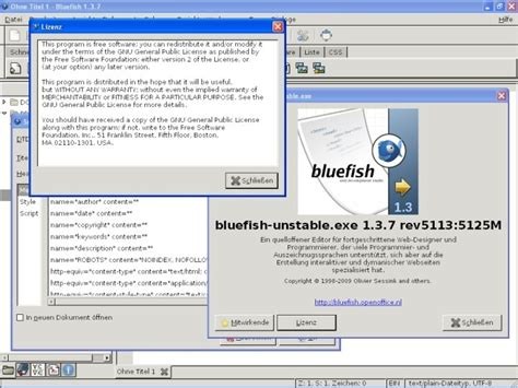 Bluefish Editor Design View | bluefish editor alternatives and similar software
