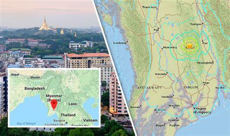 earthquake yangon 0 magnitude quake hits central myanmar no damage reported
