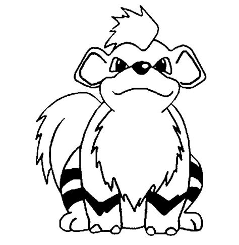 pokemon coloring pages growlithe pokemon papercraft print outs growlithe images pokemon