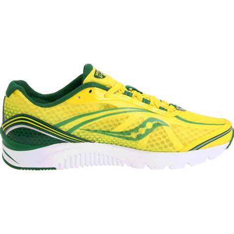 running shoes yellow saucony mens progrid kinvara 2 running shoe in yellow for