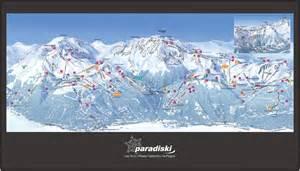 plan des pistes la plagne station de ski la plagne