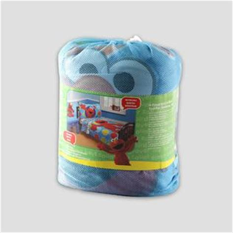 Elmo Toddler Bedding Set Sesame Elmo Toddler S 4 Bedding Set