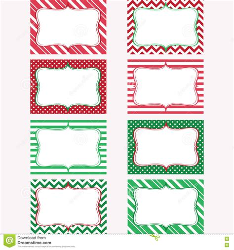 printable gift tag borders christmas printable labels set tags photo frame stock