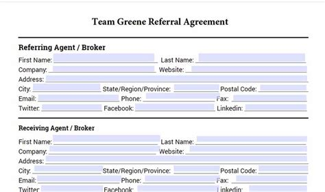 Rexburg Real Estate Agent Referral Agreement Real Estate Referral Agreement Template