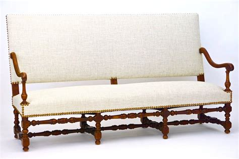 19th century jacobean style settee or bench with back