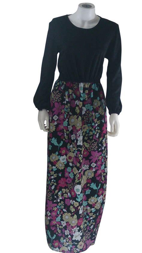 jersey play dress pattern long sleeve maxi dress black jersey and flower pattern