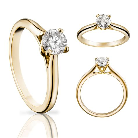 Yellow Gold Solitaire Engagement Rings And by Solitaire 1895 Ring In Yellow Gold Cartier The