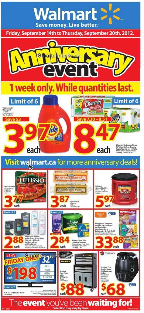 walmart anniversary sale flyer ontario sep 14 to 20