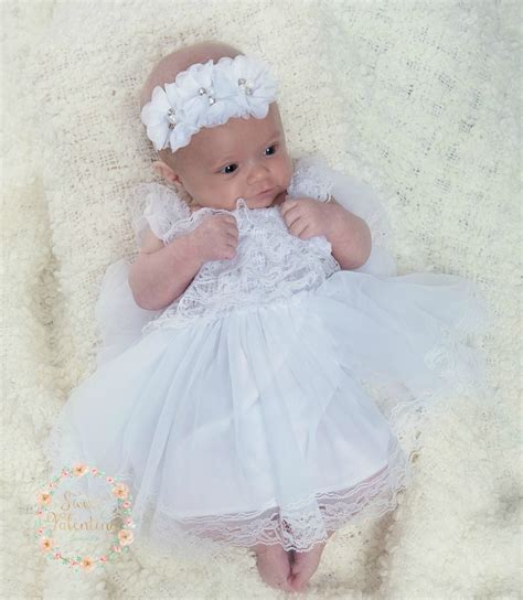 white baby dress baptism dress christening dress newborn white dress newborn