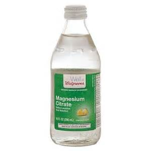 walgreens magnesium citrate saline laxative solution