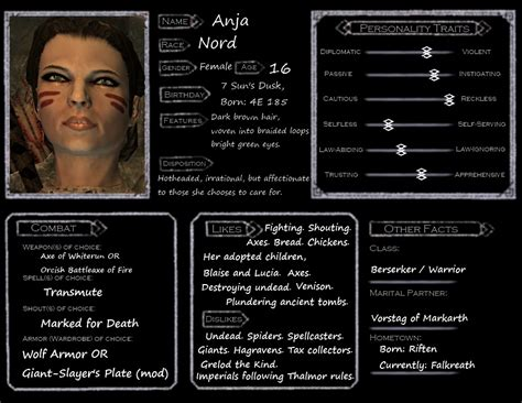 Skyrim Character Templates skyrim character template anja by aikiakane on deviantart