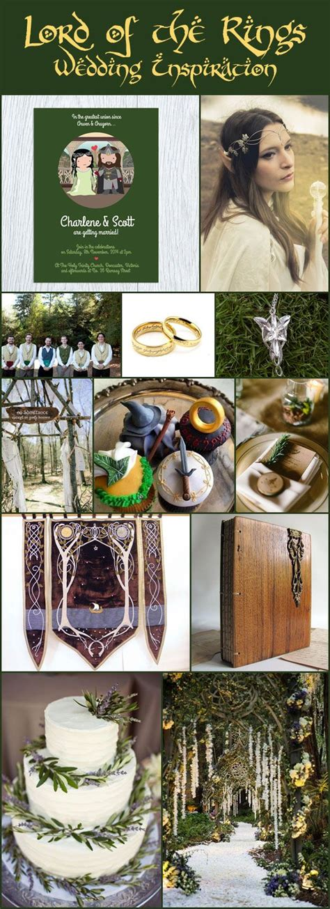 themes in geek love wedding inspiration lord of the rings lotr wedding