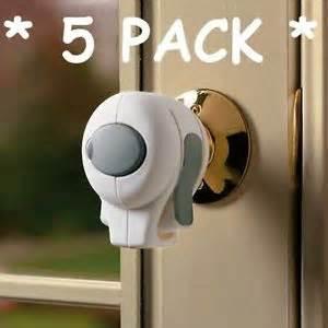 5 pack door knob lock children safety grip cover