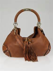 Gucci Rust Indy Large Top Handle Bag by Gucci Brown Leather Large Babouska Indy Top Handle Bag