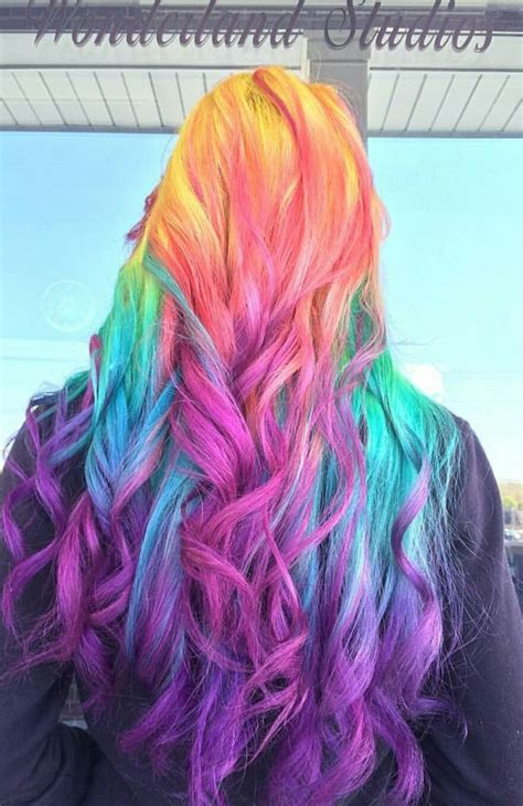 hait color 25 best ideas about rainbow dyed hair on