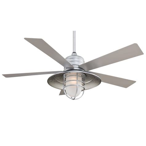 galvanized outdoor ceiling fan 54 quot rainman ceiling fan by minka aire outdoor