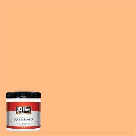 behr premium plus 8 oz 270b 4 apricot flower interior exterior paint sle 270b 4pp the