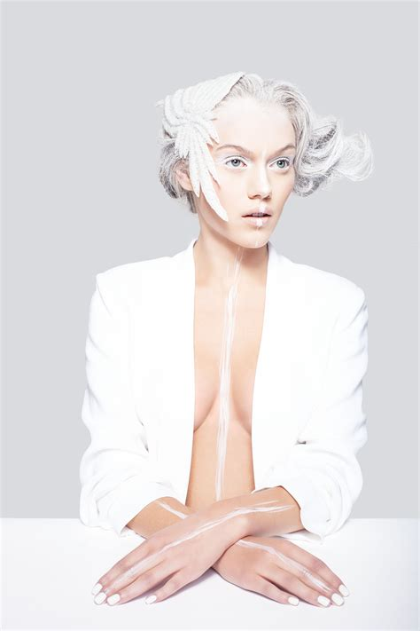 Make Up Marlene white photographed by niklas r 252 ffer hair make