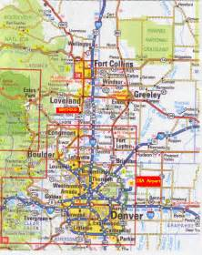 colorado map denver denver map free printable maps