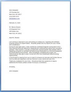 Senior Principal Engineer Cover Letter by Sle Cover Letter Software Engineer Software Engineer Cover Letter With Software Engineer