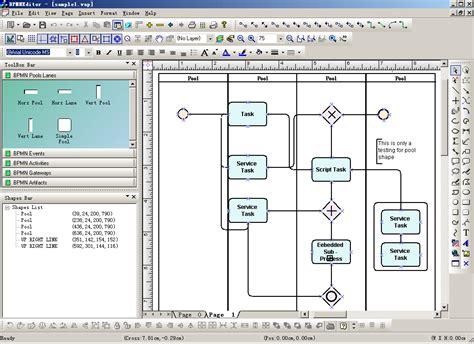 bpmn diagram editor new bpmn diagram component solution 2009 vol 1