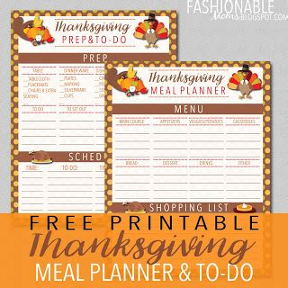 printable thanksgiving meal planner my fashionable designs free printable thanksgiving meal