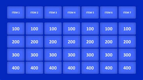 Jeopardy Game PowerPoint Templates